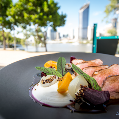 double smoked lamb rump glazed baby beetroots, pickled onion, sheep yogurt, puffed quinoa