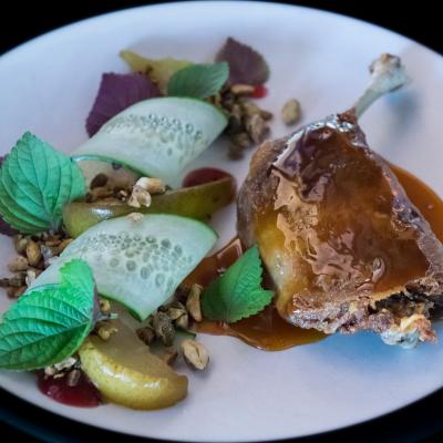 Aquitaine Brasserie roast duck
