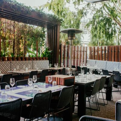 Aquitaine Brasserie Restaurant outdoor tables