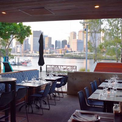 Restaurant view of Brisbane river